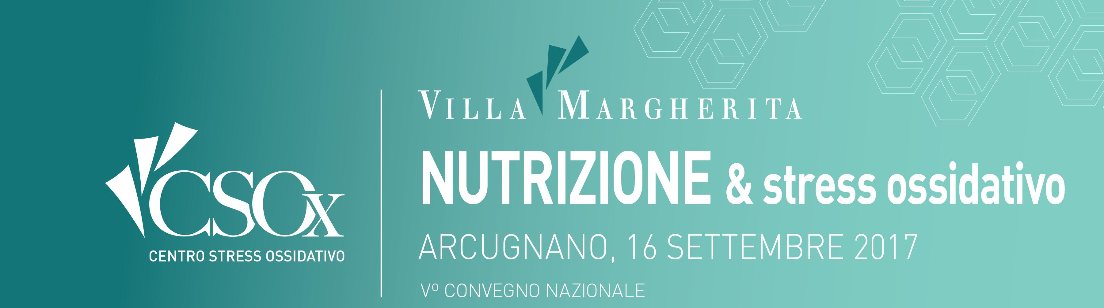 Vº Convegno Nazionale:  NUTRIZIONE & stress ossidativo