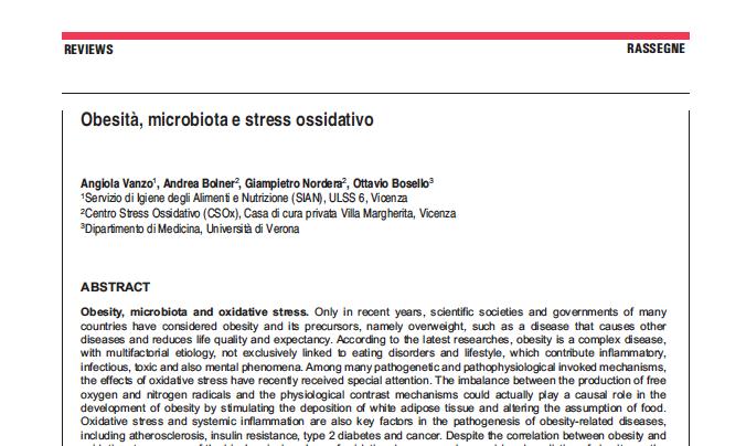 Obesità, microbiota e stress ossidativo